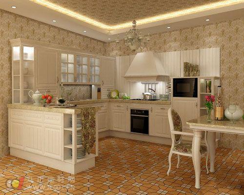 2013开放式厨房装修效果图